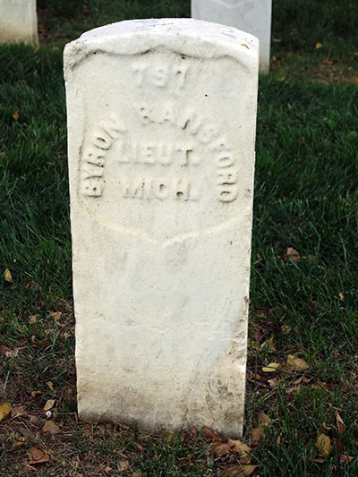 Byron Ransford, 5th MI Inf. Co. C grave. Image ©2015 Look Around You Ventures, LLC.