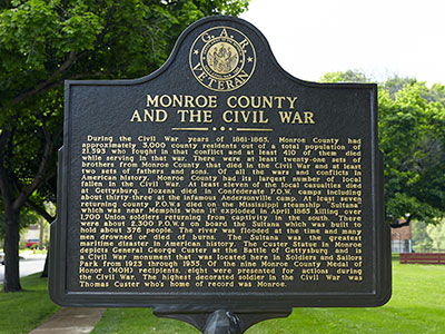 Monroe in the Civil War marker. Image ©2015 Look Around You Ventures, LLC.