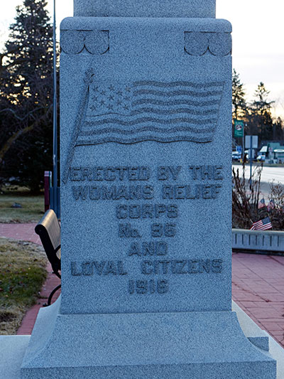 ©2017 Look Around You Ventures, LLC. Image of Civil War monument in Williamston, MI.