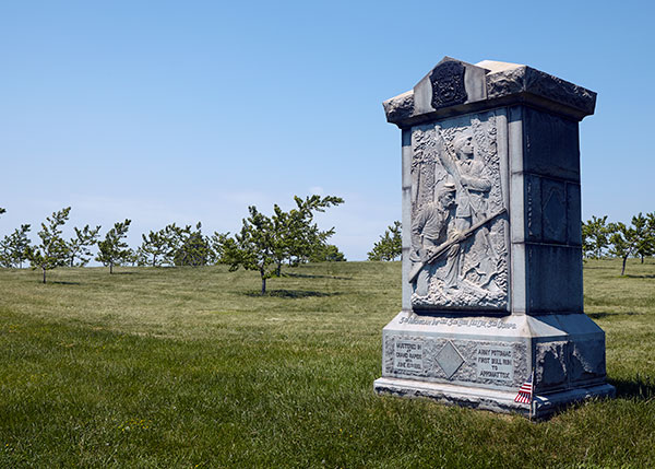 3rd Michigan Monument at Gettysburg in the Peach Orchard. Image ©2015 Look Around You Ventures, LLC.