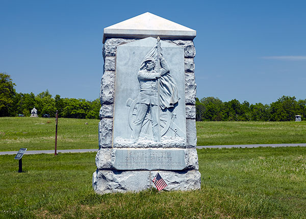 Monument dedicated to the 4th Michigan at Gettysburg. Image ©2015 Look Around You Ventures, LLC.