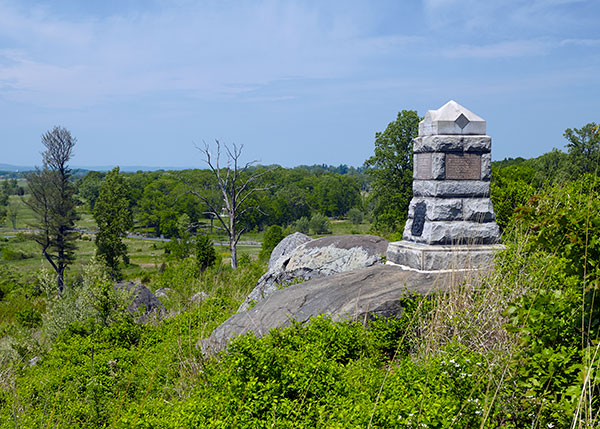 Michigan Sharpshooter monument found on Little Round Top at Gettysburg. Image ©2015 Look Around You Ventures.