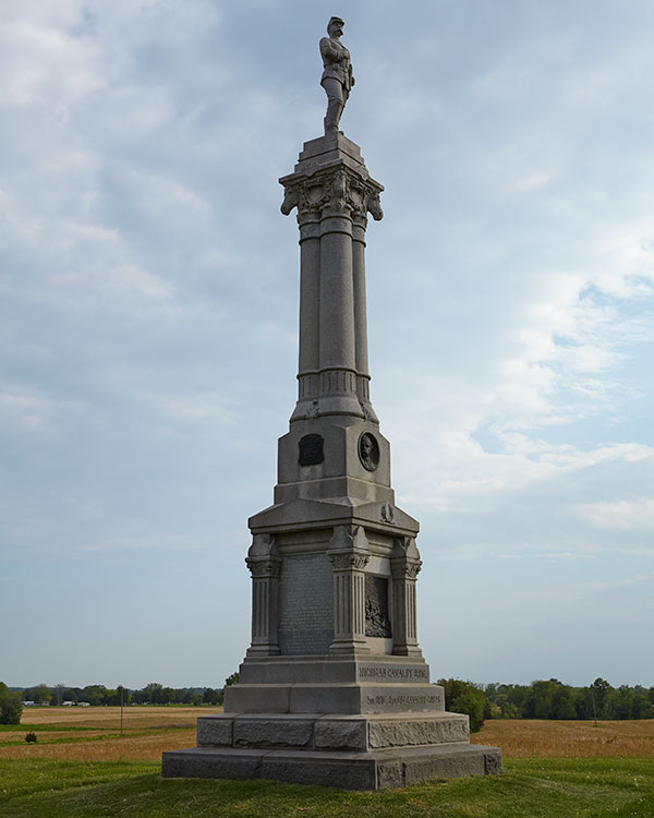 Michigan Cavalry Brigade monument at Gettysburg. Image ©2015 Look Around You Ventures.