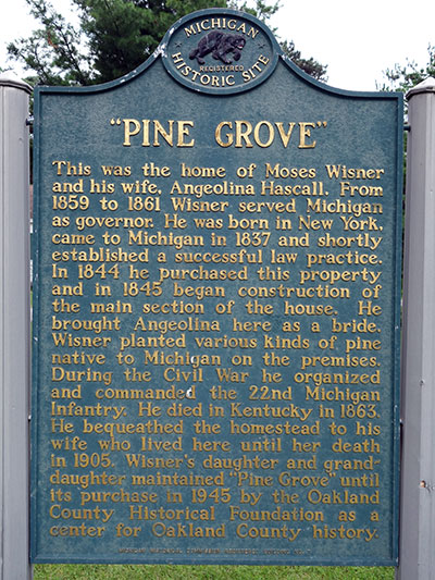 Pine Grove Marker, located in Pontiac Michigan.  Image ©2014 Look Around You Ventures, LLC.