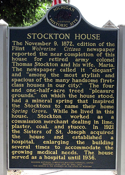 Thomas Stockton House State Historic Marker - Image ©2014 Look Around You Ventures